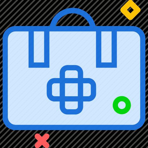 bag, doctor, suitcase, transplant icon