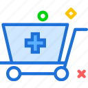health, medical, shopcart icon