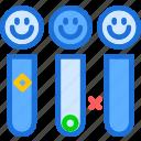 smiley, test, tubes icon