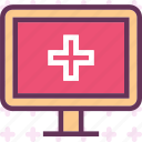 crossmonitor, display, health, medical, stats icon