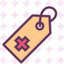 health, medical, tag icon
