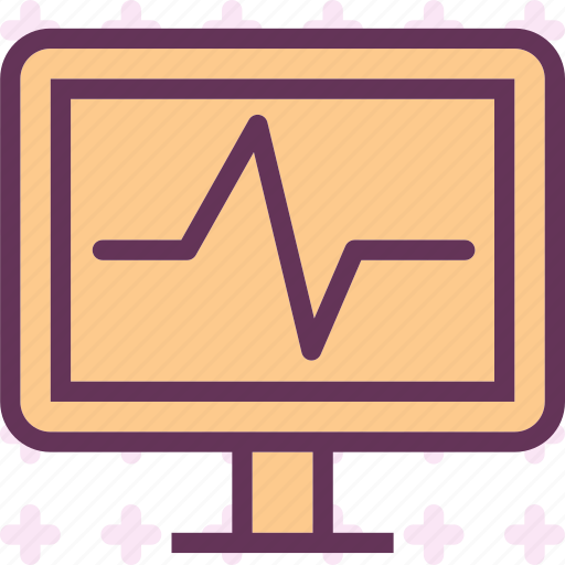 display, ekg, heartbeat, monitor, statssignal icon