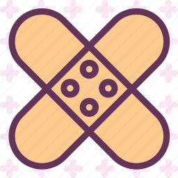 bandage, firstaid, plaster, protection icon