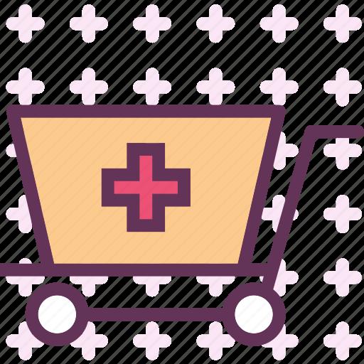 health, medical, shopcart icon