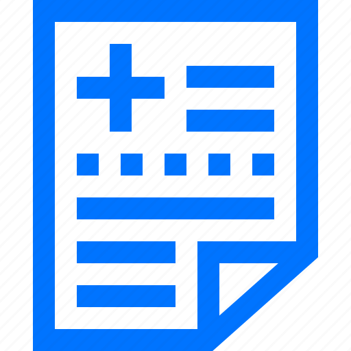 data, document, file, health, information, medical, report icon