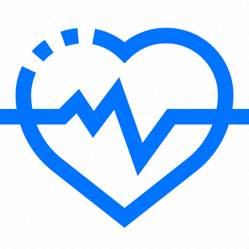 cardiogram, electrocardiogram, heart, medical, rate icon