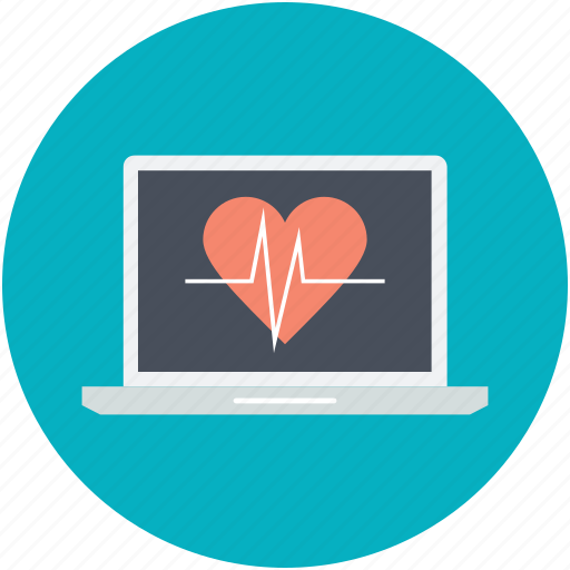 Ecg, ecg machine, electrocardiograph, heart check up, heart rate machine icon - Download on Iconfinder