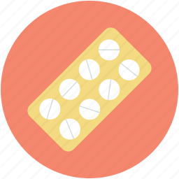 capsule, drugs, medical pills, medications, pills strip icon