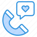 call, heart, medical, assistance, phone icon