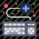 attach, keyboard, medical, online, service icon