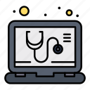 check, medical, online, service icon