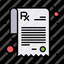 rx, pharmacy, prescription icon
