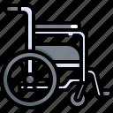 chair, equipment, health, healthcare, hospital, medical, wheelchair icon