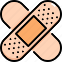 band aid, bandage, healing, healthcare, medical, patch, plaster icon