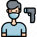 equipment, health, healthcare, hospital, medical, patient, thermometer icon
