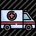 ambulance, emergency, health, healthcare, hospital, medical, transportation icon
