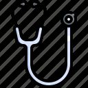 doctor, equipment, health, healthcare, hospital, medical, stethoscope icon