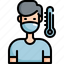 health, healthcare, hospital, medical, patient, sick, thermometer icon