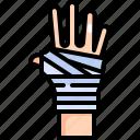band aid, bandage, broken, gauze, hand, healthcare, medical icon