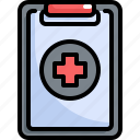 clipboard, equipment, health, healthcare, hospital, medical, report icon