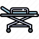 bed, equipment, health, healthcare, hospital, medical, patient icon