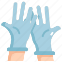 equipment, gloves, health, healthcare, hospital, medical, rubber icon