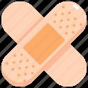 band aid, bandage, health, healthcare, hospital, medical, plaster icon