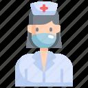 avatar, health, healthcare, hospital, medical, nurse, profile icon