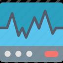 ecg, electrocardiogram, graph, healthcare, heartbeat, hospital, medicine icon
