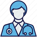 doctor, man, medical, medical help, staff icon