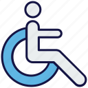 disable, medical, person, wheel chair