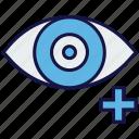 eye, eye test, medical, plus, view