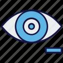 eye, eye test, medical, minus, view