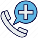 emergency call, hospital call, medical, message icon