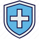 medical, protect, security, shield icon