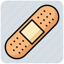 bandage, health, medical, plaster, wound icon
