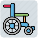 disable, handicap, hospital, medical, wheelchair icon