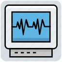 ecg, heartbeat, lifeline, machine, medical, pulse meter icon