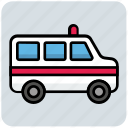 ambulance, emergency, healthcare, medical, transport icon