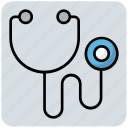 checking, doctor, medical, stethoscope icon