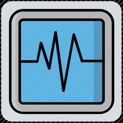 Ecg, heartbeat, lifeline, machine, medical, pulse meter icon - Download on Iconfinder