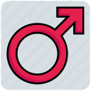 biological, male, man, medical, sex, sign icon