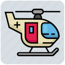 air, ambulance, helicopter, medical, medical flight, rescue helicopter icon