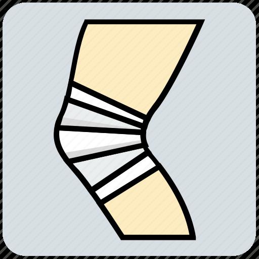 bandage, hospital, injury, leg, medical icon
