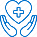 care, health, healthcare, heart, medical, medicine, protection icon