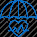 health, insurance, medical, protection, security, service, umbrella icon