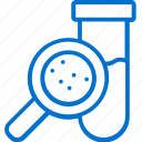 analysis, examine, laboratory, magnifier, research, test, tube icon
