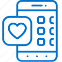 apps, health, heart, medical, mobile, smartphone, software icon