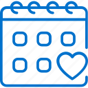 appointment, calendar, doctor, examination, heart, medical, scheduling icon