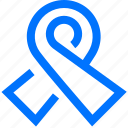 medical, ribbon, sign icon